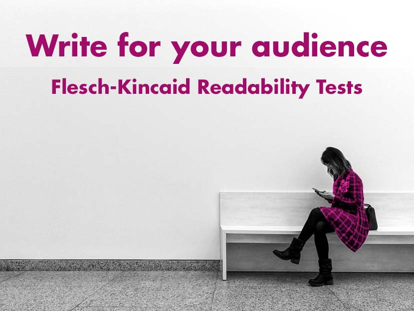 Flesch-Kincaid Readability Scores to help your writing