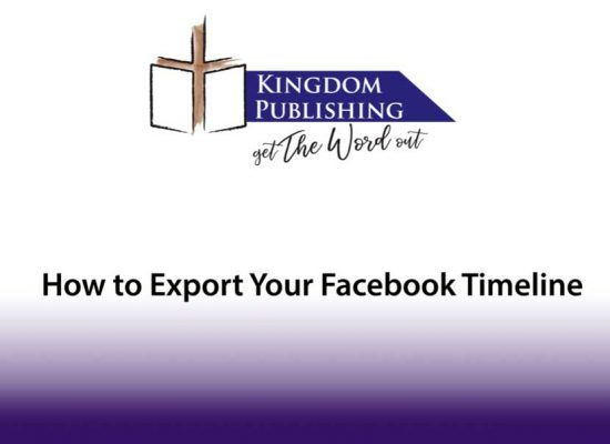 How to Download Your Facebook Timeline